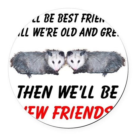 bestfriends5.png Round Car Magnet