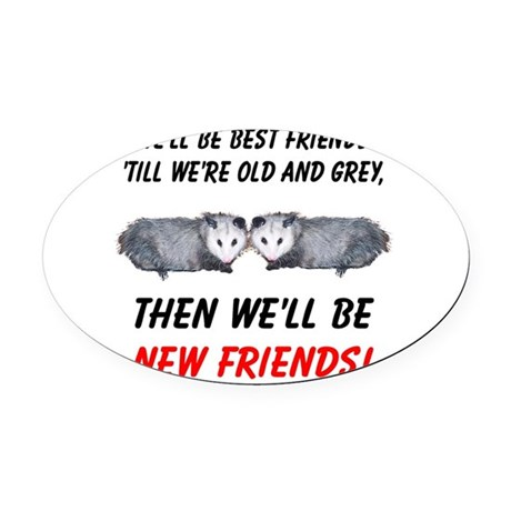 bestfriends5.png Oval Car Magnet