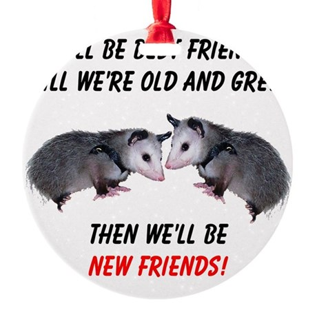 bestfriends4.png Round Ornament