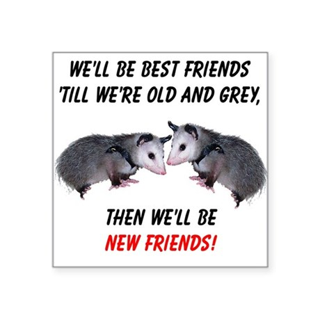"bestfriends4.png Square Sticker 3"" x 3"""