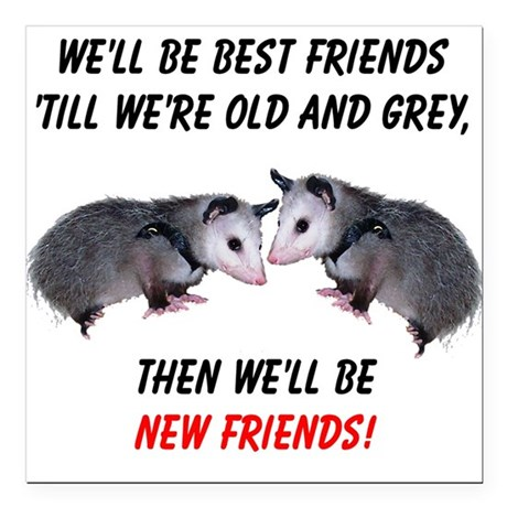 "bestfriends4.png Square Car Magnet 3"" x 3"""