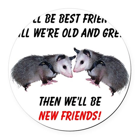 bestfriends4.png Round Car Magnet