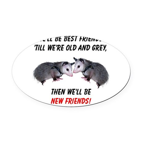 bestfriends4.png Oval Car Magnet