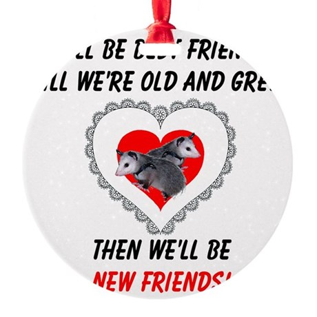 bestfriends3.png Round Ornament