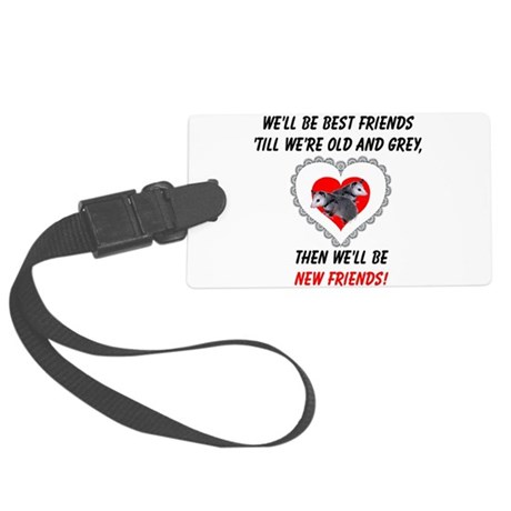 bestfriends3.png Large Luggage Tag