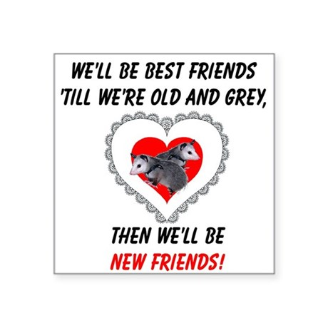 "bestfriends3.png Square Sticker 3"" x 3"""