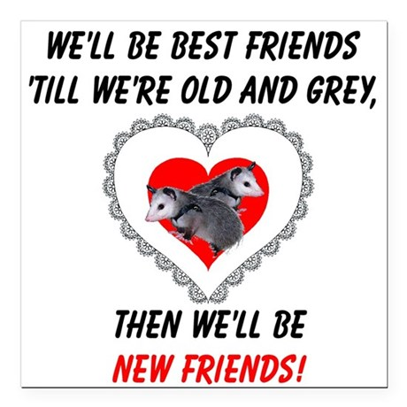 "bestfriends3.png Square Car Magnet 3"" x 3"""