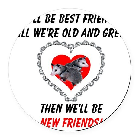 bestfriends3.png Round Car Magnet