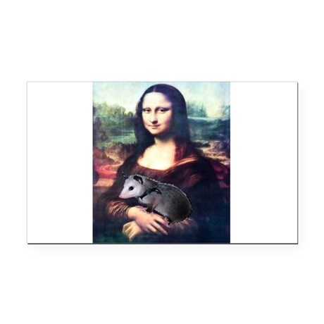 monalisa2acd.png Rectangle Car Magnet
