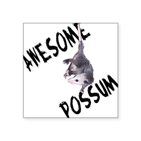 "possum32a.png Square Sticker 3"" x 3"""