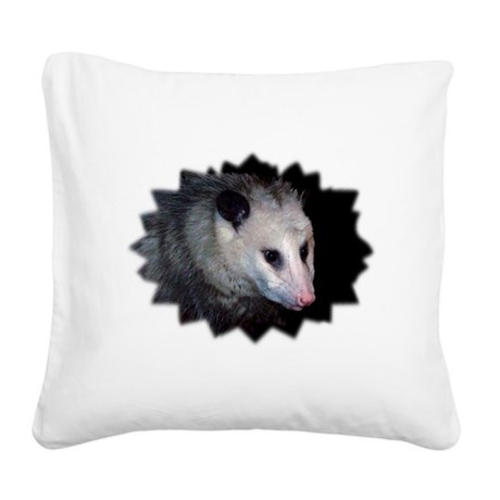 awesome possum Square Canvas Pillow