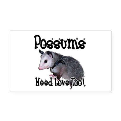 possum34.png Rectangle Car Magnet