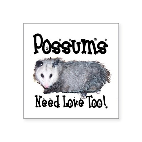 "possum33.png Square Sticker 3"" x 3"""
