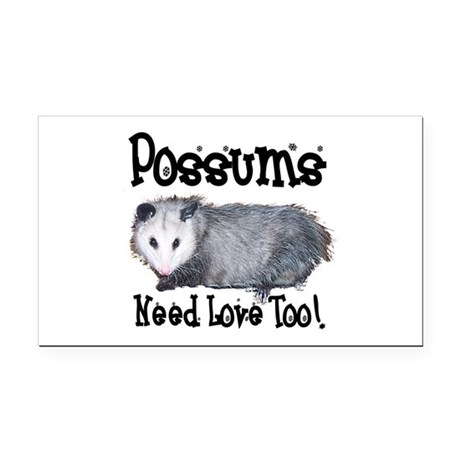 possum33.png Rectangle Car Magnet