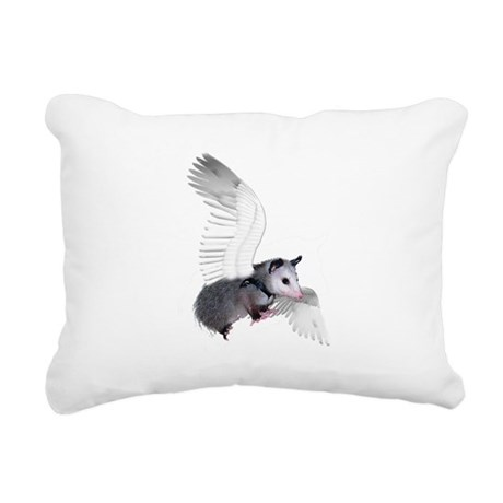 possum15ang.png Rectangular Canvas Pillow