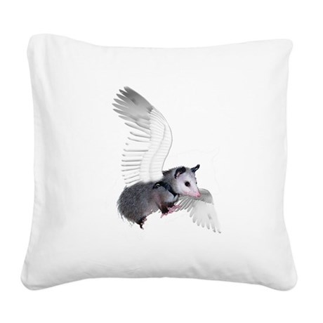 possum15ang.png Square Canvas Pillow