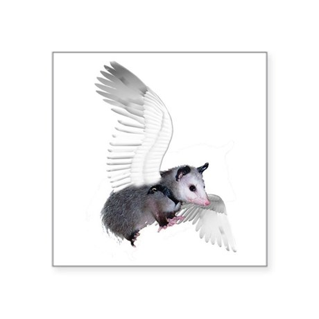 "possum15ang.png Square Sticker 3"" x 3"""