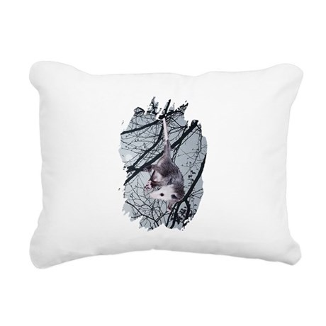 Possum Moonlight Rectangular Canvas Pillow