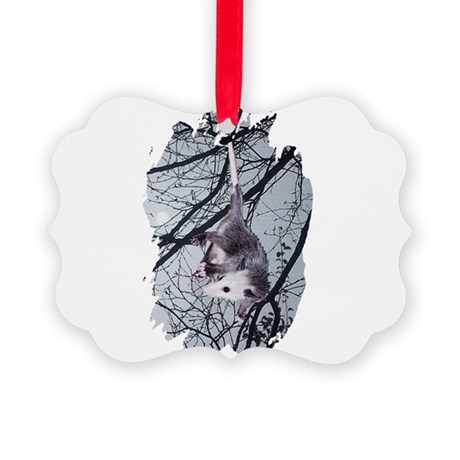 Possum Moonlight Picture Ornament