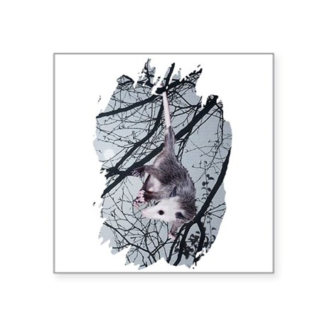 "Possum Moonlight Square Sticker 3"" x 3"""