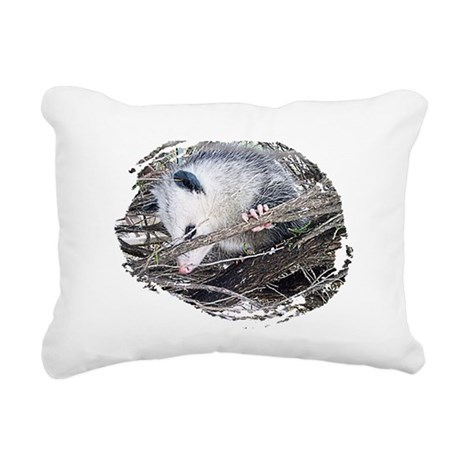 possum Rectangular Canvas Pillow
