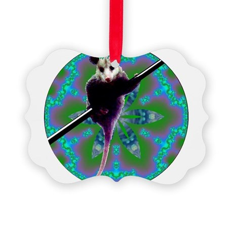 Opossum Picture Ornament