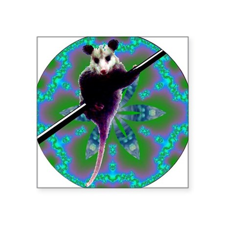 Opossum Square Sticker 3&quot; x 3&quot;