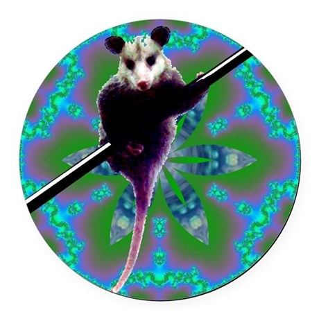 Opossum Round Car Magnet