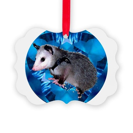 Blue Baby Possum Picture Ornament