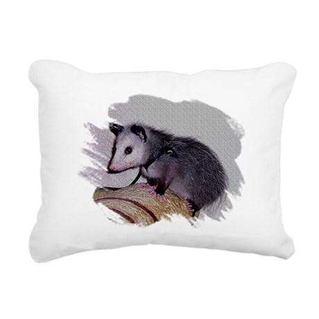 Baby Possum Rectangular Canvas Pillow