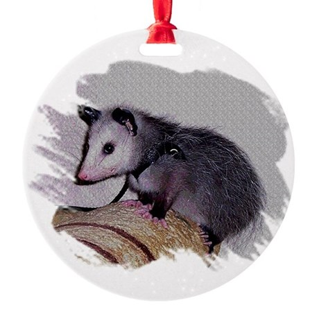 Baby Possum Round Ornament
