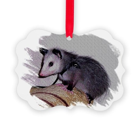 Baby Possum Picture Ornament