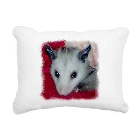 Little Possum Rectangular Canvas Pillow