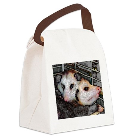 Two Opossums Canvas Lunch Bag