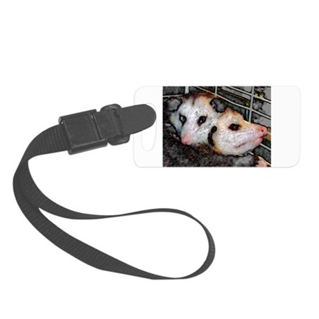 Two Opossums Small Luggage Tag