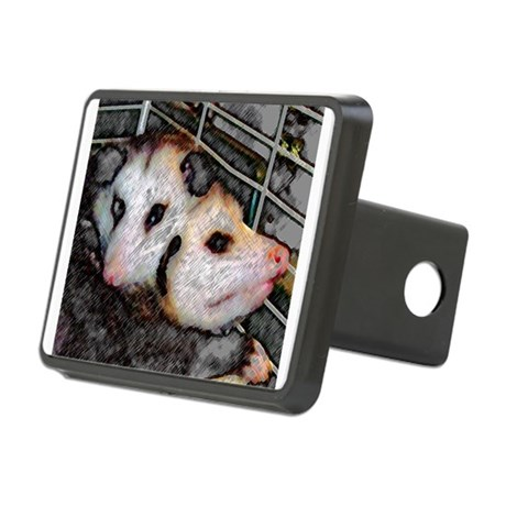 Two Opossums Rectangular Hitch Cover