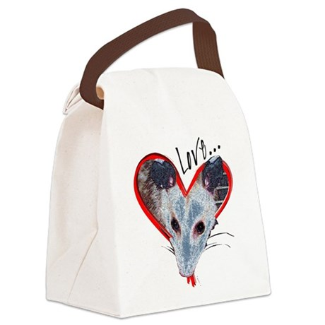 Possum Love Canvas Lunch Bag