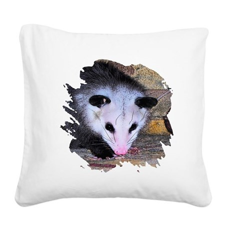 possum Square Canvas Pillow