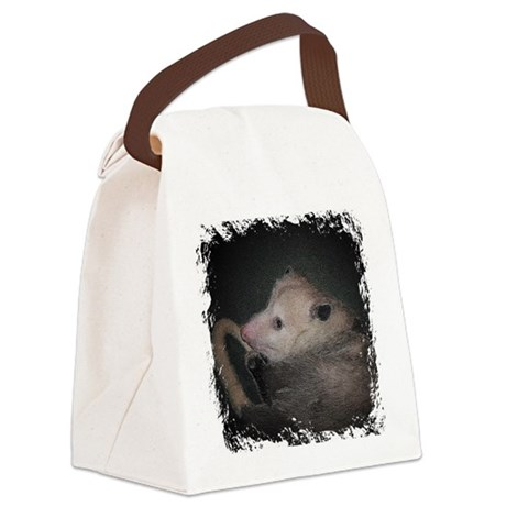 Sleepy Possum Canvas Lunch Bag