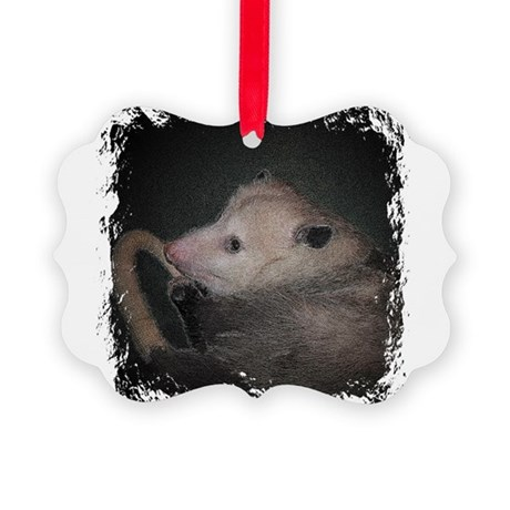 Sleepy Possum Picture Ornament