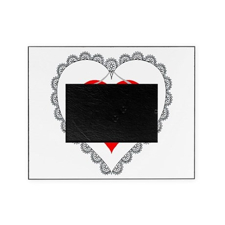 Possum Valentines Heart Picture Frame