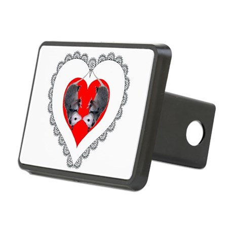 Possum Valentines Heart Rectangular Hitch Cover
