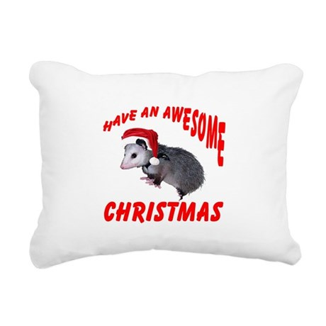 santaspossum2.png Rectangular Canvas Pillow