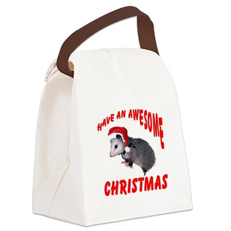 santaspossum2.png Canvas Lunch Bag