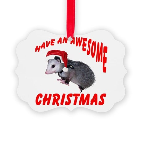 santaspossum2.png Picture Ornament