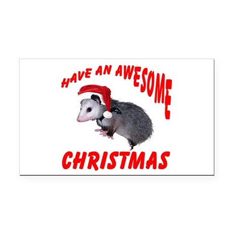 santaspossum2.png Rectangle Car Magnet