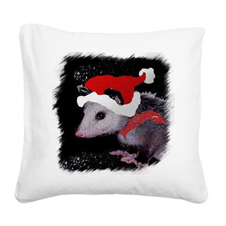 Possum Santa Square Canvas Pillow