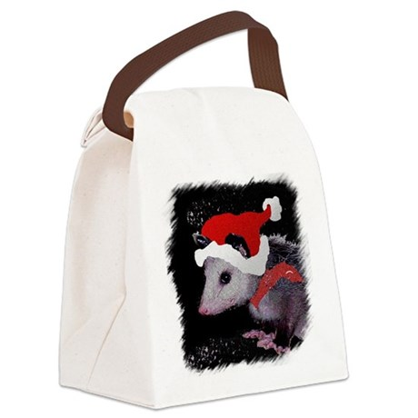 Possum Santa Canvas Lunch Bag