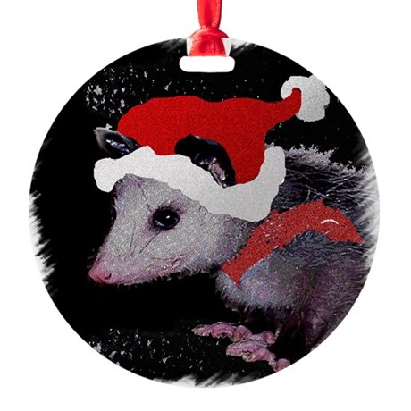 Possum Santa Round Ornament
