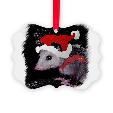 Possum Santa Picture Ornament